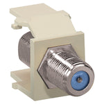 Leviton 41084-FTF QuickPort Nickel-Plated F-Type Adapter (Light Almond)