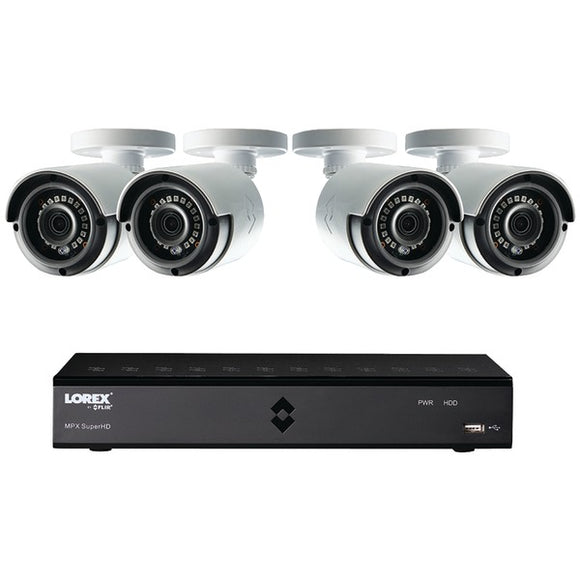 Lorex LHA21081TC4B 8-Channel MPX 1080p HD 1TB DVR with 4 Weatherproof IR Cameras