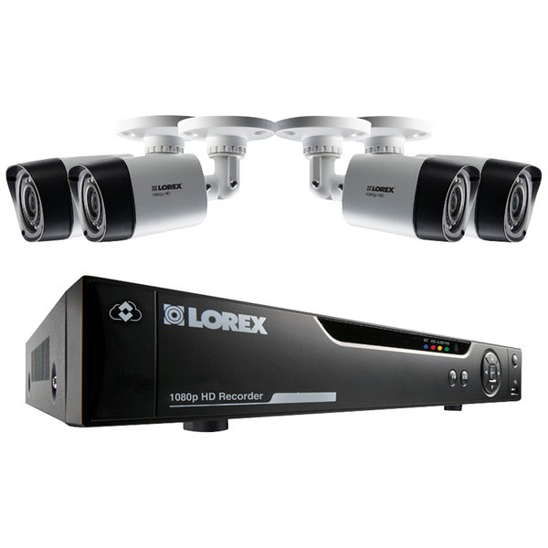 Lorex LHV414F 4-Channel Series Security 1TB DVR system with Four 1080p HD Weatherproof Cameras