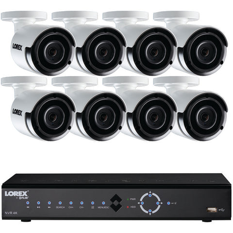 Lorex LNK71082TC8B 8-Channel 4.0-Megapixel 2TB NVR with 8.0-Megapixel PoE Cameras (Includes 8 Cameras)