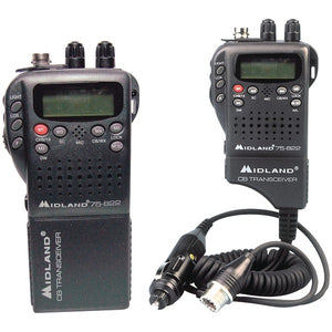 Midland 75-822 Handheld 40-Channel CB Radio with Weather-All-Hazard Monitor & Mobile Adapter
