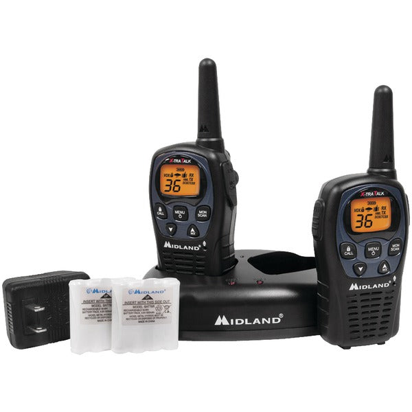 Midland(r) Midland(R) LXT560VP3 26 Mile GMRS Radio Pair Pack with Drop in Charger & Rechargeable Batteries