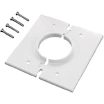 Midlite(r)   2GSWH GR2 Double Gang Splitport(TM) Wall Plate with Grommet