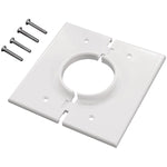 Midlite(r)   2GSWH Double Gang Splitport(TM) Wall Plate (White)