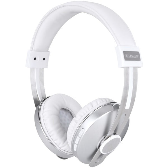 Fisher FBHP610SIL Pro Beats Bluetooth Stereo Headphones with Microphone (Silver)