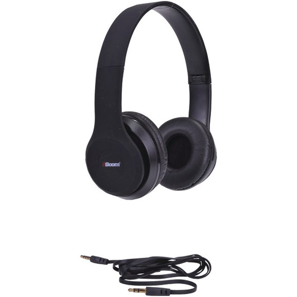 2boom hpm340k spin master rubberized dj headphones with microphone black