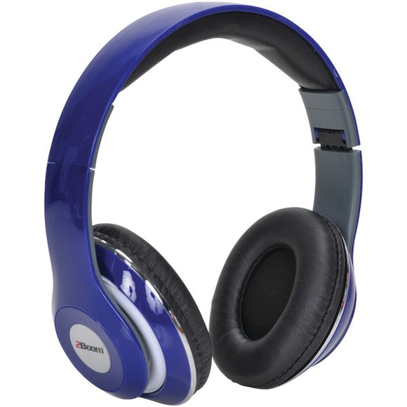 2boom hpm380b mixx over ear headphones with microphone blue