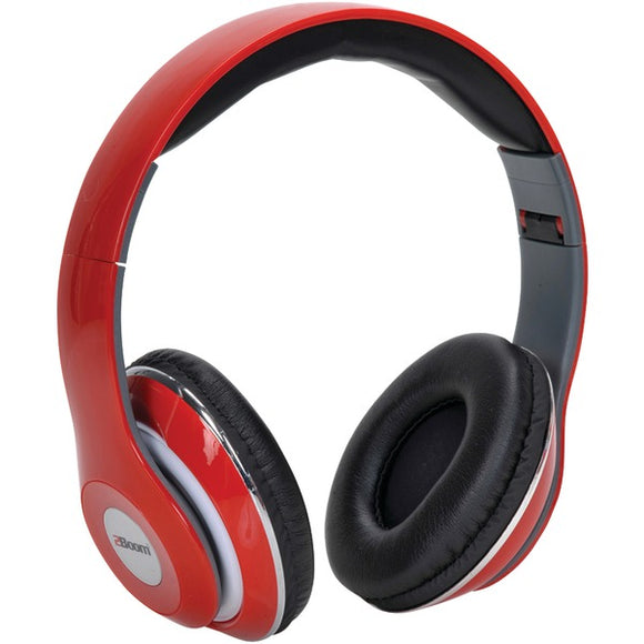 2boom hpm380r mixx over ear headphones with microphone red