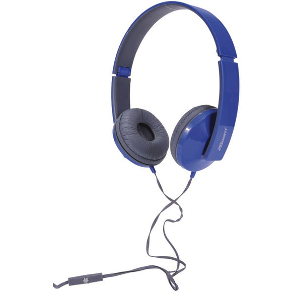 2boom hpm520b solo note headphones with microphone blue