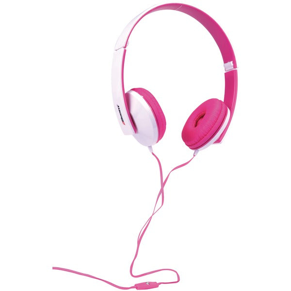 2boom hpm520p solo note headphones with microphone pink