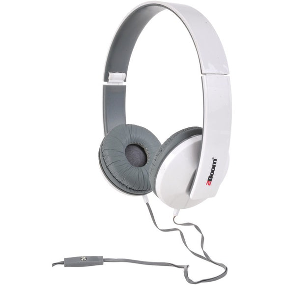 2boom hpm520w solo note headphones with microphone white