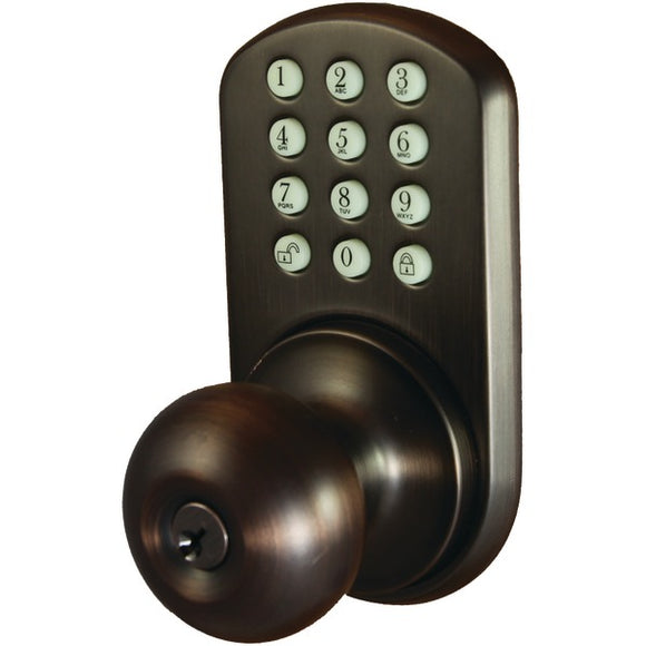 Morning Industry Inc. Morning Industry Inc. HKK 01OB Touchpad Electronic Doorknob (Oil Rubbed Bronze)