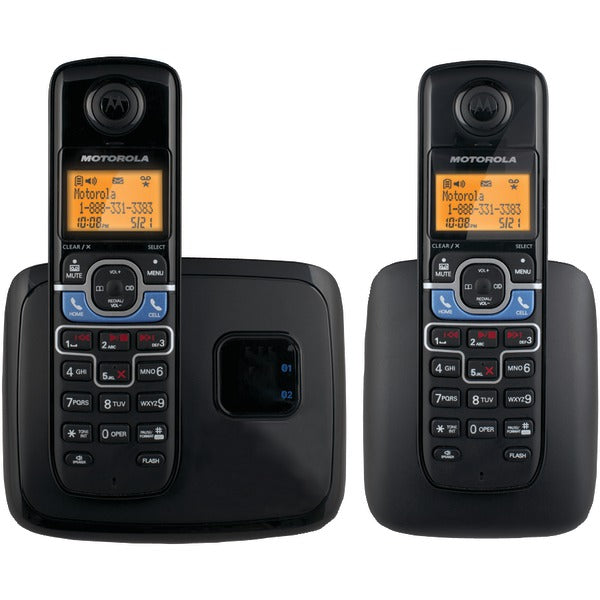 Motorola(r) Motorola(R) L702BT DECT 6.0 2 Handset Cordless Phone System with Bluetooth(R) Link