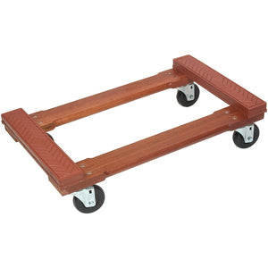 Monster Trucks Monster Trucks MT10002 Wood 4 Wheel Piano Rubber Cap Dolly