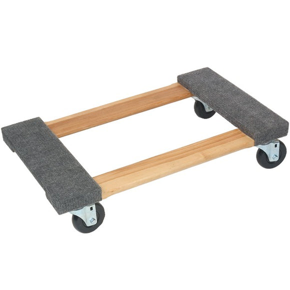 Monster Trucks(tm) Monster Trucks(TM) MT10003 Wood 4 Wheel Piano Carpeted Dolly