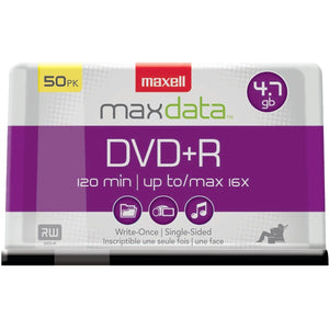 Maxell 639013 4.7GB 120-Minute DVD+Rs (50-ct Spindle)