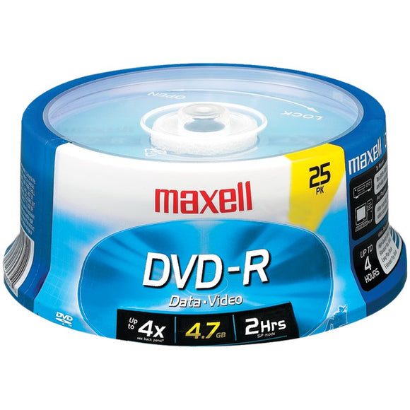 Maxell 638010 4.7GB 120-Minute DVD-Rs (25-ct Spindle)