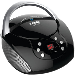 Naxa NPB 270 Bluetooth(R) Streaming CD CD R RW Boom Box