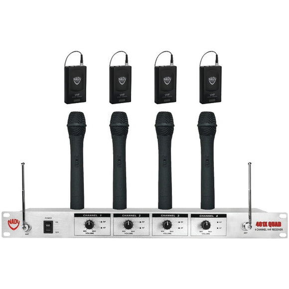 Nady(r) Nady(R) 401 XQ HT 4 Channel 401X Quad Professional VHF Wireless Microphone System