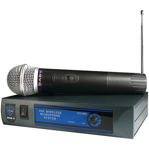 Nady Nady DKW 3 HT B 185.150 Mhz VHF Single Channel Handheld Wireless Cardioid Dynamic Microphone System