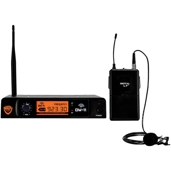Nady(r) Nady(R) DW 11 LT ANY Single Channel Digital Wireless Microphone System (Digital LT(TM) LM 14 O Lapel Microphone)