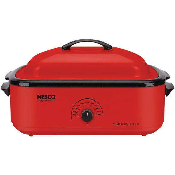 Nesco (R) 4818 12 18 Quart Porcelain Roaster Oven (Red)