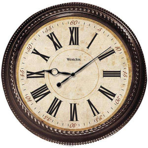 "Westclox(R) 32059 20"" Marbled Case Finish Clock"
