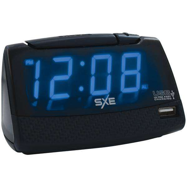 SXE SXE86034 Alarm Clock with USB Charging Port
