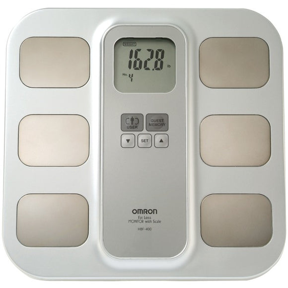 Omron HBF 400 Full Body Sensor Body Composition Monitor & Scale with 3 Fitness Indicators