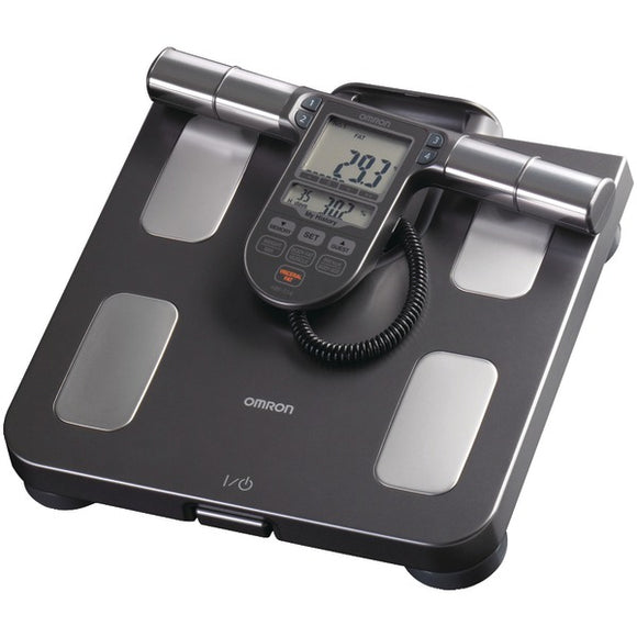 Omron HBF 514C Full Body Sensor Body Composition Monitor & Scale with 7 Fitness Indicators (90 Day Memory)