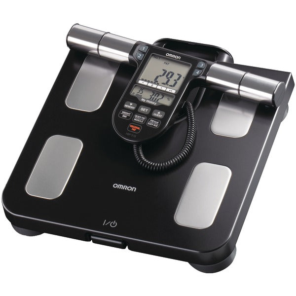 Omron HBF 516B Full Body Sensor Body Composition Monitor & Scale with 7 Fitness Indicators (180 Day Memory)