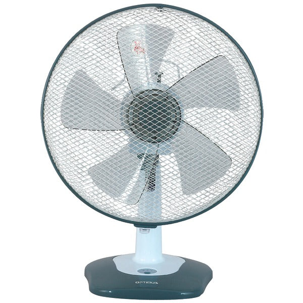 "Optimus Optimus F 1212 12"" Oscillating Table Fan with Soft Touch Switch"