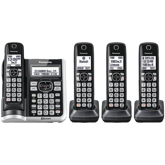 Panasonic Panasonic KX TGF574S Link2Cell Bluetooth Cordless Phone with Answering Machine (4 Handsets)