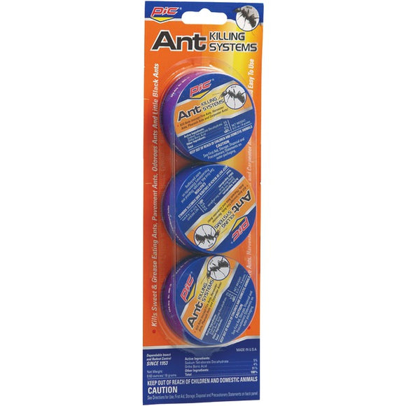 Pic PIC AT3 Indoor Outdoor Metal Ant Traps, 3 pk