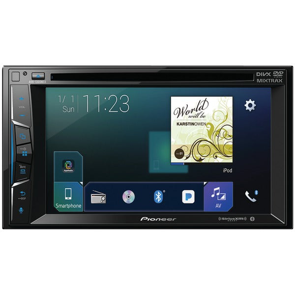 "Pioneer  AVH 1300NEX 6.2"" Double DIN In Dash NEX DVD Receiver with Bluetooth(R), Apple CarPlay(TM), FLAC Audio & SiriusXM(R) Ready"