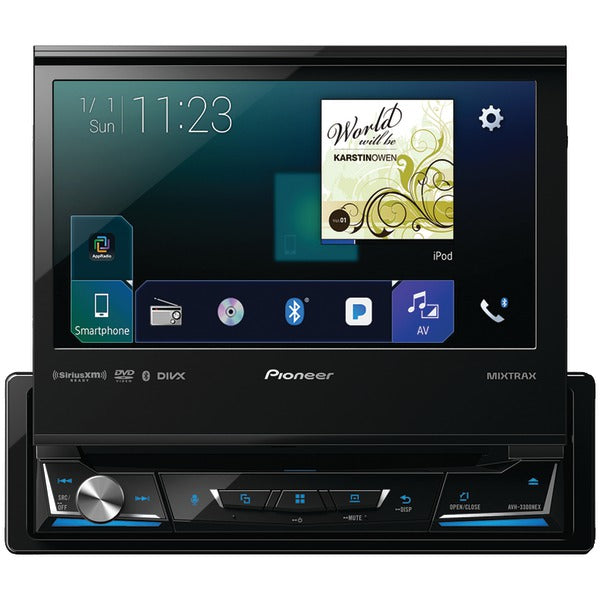 "Pioneer  AVH 3300NEX 7"" Single DIN In Dash NEX DVD Receiver with Bluetooth(R), Apple CarPlay(TM), Android Auto(TM), FLAC Audio & SiriusXM(R) Ready"