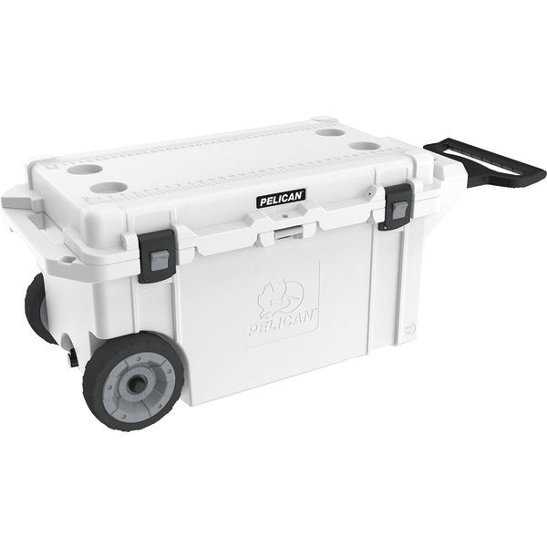 Pelican 80QW-1-WHT 80-Quart Elite Cooler with Built-in Wheels (White)