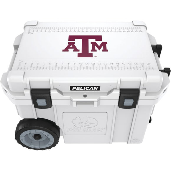 Pelican(tm) Pelican(TM) CC 19322 45QWT 45 Quart Texas A&M University Aggies(R) Elite Wheeled Cooler