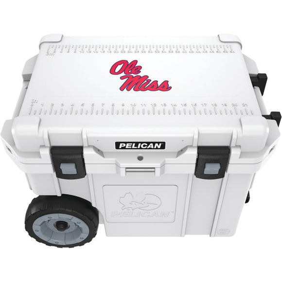 Pelican(TM) CC-19327-45QWT 45-Quart University of Mississippi Ole Miss Rebels(R) Elite Wheeled Cooler