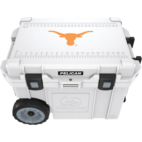 Pelican(tm) Pelican(TM) CC 19328 45QWT 45 Quart University of Texas Longhorns(R) Elite Wheeled Cooler