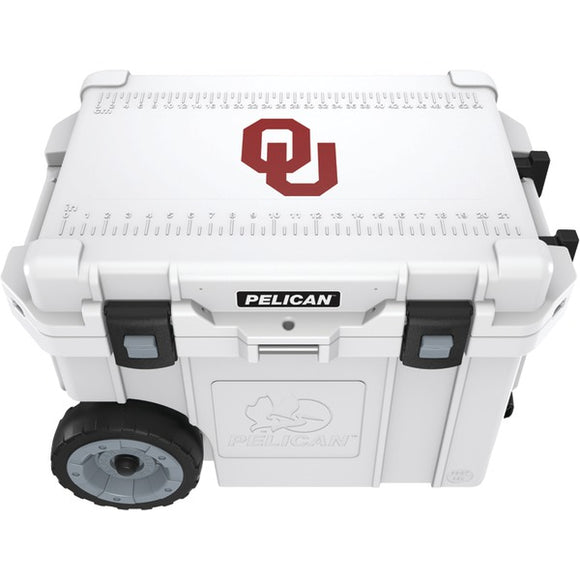 Pelican(tm) Pelican(TM) CC 19333 45QWT 45 Quart University of Oklahoma Sooners(R) Elite Wheeled Cooler