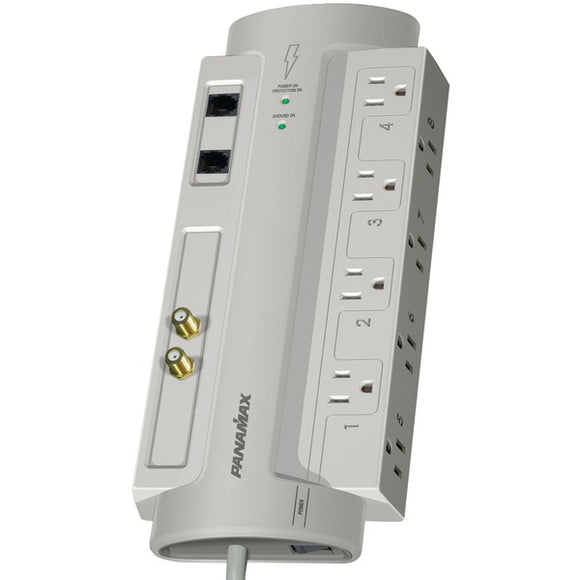 Panamax Panamax SP8 AV 8 Outlet SP8 AV SurgeProtector 8 with Coaxial & Telephone Protection