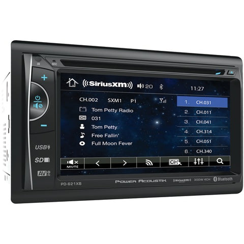 "Power Acoustik PH-620SXMB 6.2"" Double-DIN In-Dash DVD-SiriusXM Radio Bundle with 3 Months Free Service"