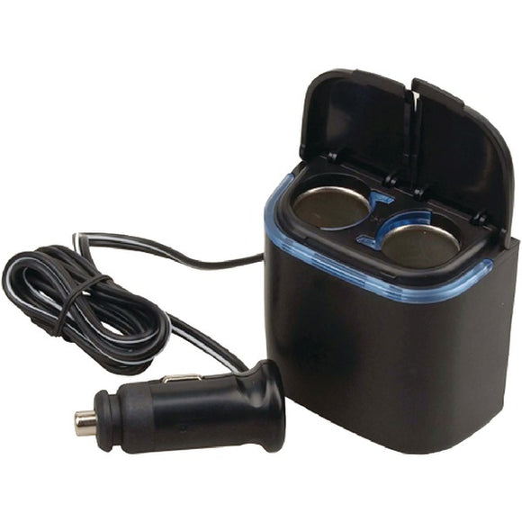 Pyle Pyle PL12V2CP Plug in 1 to 2 Cigarette Lighter Multiplier