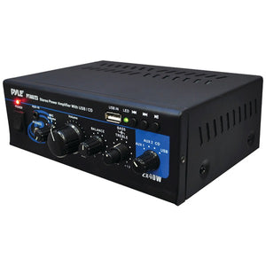 Pyle Home(r) Pyle Home(R) PTAU23 40 Watt x 2 Mini Stereo Power Amp with USB Reader