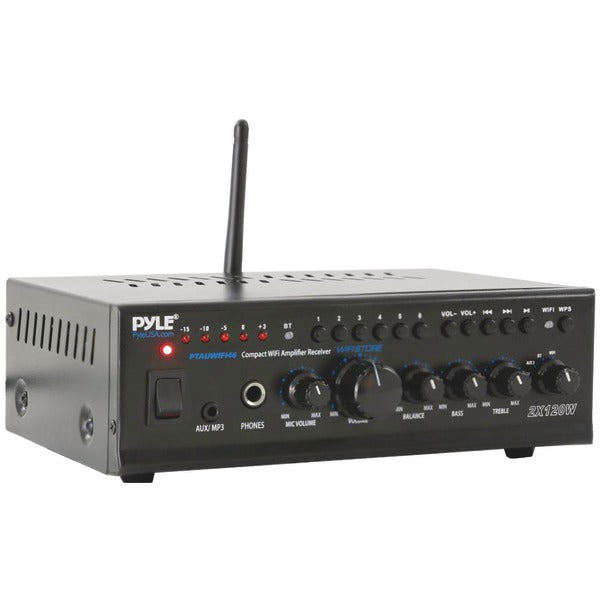 Pyle Home PTAUWIFI46 Compact Wi-Fi Stereo Amp Receiver