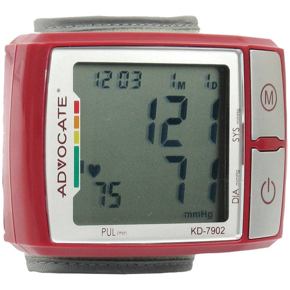 advocater kd 7902 wrist blood pressure monitor with color indicator