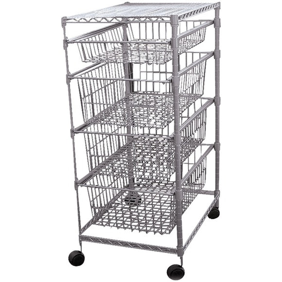 No Logo 30029PET 4 Drawer Storage Cart