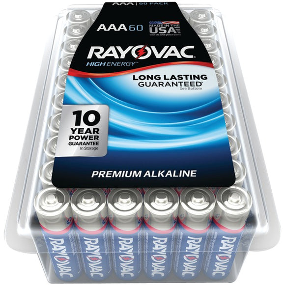 Rayovac RAYOVAC 824 60PPJ Alkaline Batteries Reclosable Pro Pack (AAA; 60 pk)