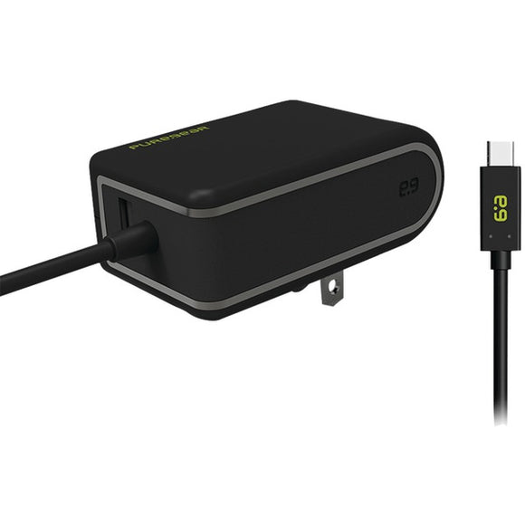 Puregear(r) PureGear(R) 10870VRP USB A to USB C(TM) Dual Port Travel Wall Charger
